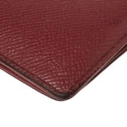 Porsche Design Red Leather Voyager 2.0 Bifold Wallet