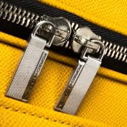 Porsche Design Yellow Leather Trolley Suitcase