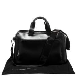 Porsche Design Black Leather Business Briefcase Bag