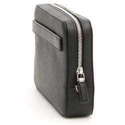 Prada Black Nylon Single Zip Pouch