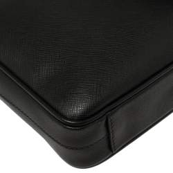 Prada Black Saffiano Lux Leather Laptop Bag