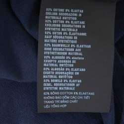 Prada Navy Blue Cotton Logo Pocket Detail Crew Neck T-Shirt M