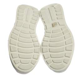 Prada White Leather Mechano Low Top Sneakers Size 45