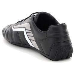 Prada Black/Grey Rev Leather Sneakers EU 41 UK 7
