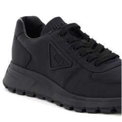 Prada Black Prax 01 Re-Nylon Gabardine Sneakers Size EU 42 UK 8