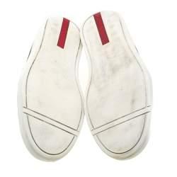 Prada Sport Black Leather Slip On Sneakers Size 40.5
