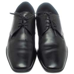 Prada Sports Black Leather Lace Up Derby Size 41.5