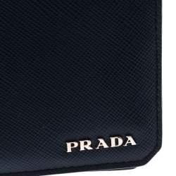Prada Navy Blue Saffiano Leather Bifold Wallet