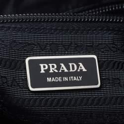 Prada Black Nylon and Leather Messenger Bag