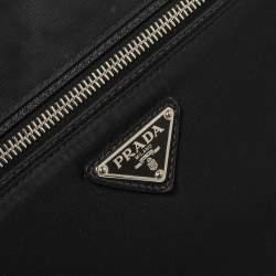 Prada Black Nylon Zip Document Pouch