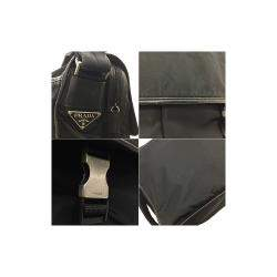 Prada Black Nylon Leather Messenger Bag