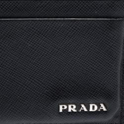 Prada Black Saffiano Leather Card Holder