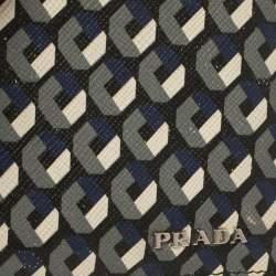 Prada Muliticolor Octagon Print Leather Bifold Wallet