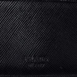 Prada Black Leather Bifold Wallet