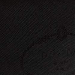 Prada Black Saffiano Lux Leather Logo Embossed Bifold Wallet