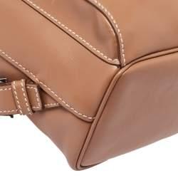 Prada Tan Leather Drawstring Backpack
