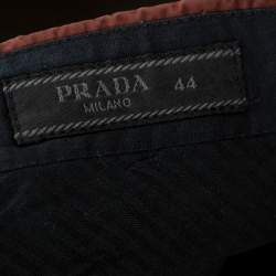 Prada Brown Cotton Tapered Trousers XS