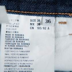 Prada Navy Blue Denim Straight Leg Jeans XL