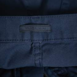 Prada Navy Blue Twill Drill Trousers M