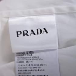 Prada White Stretch Cotton Button Front Shirt M