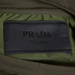Prada Olive Green Cotton Pocket Detail Crewneck T-Shirt M