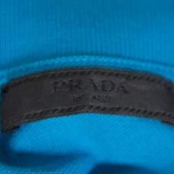 تي شيرت برادا بيكيه قطن أزرق مقاس كبير جدًا جدًا - إكس إكس لارج