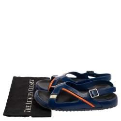 Prada Blue Rubber Slingback  Sandals Size 43