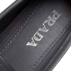Prada Grey Leather Slip On  Loafers Size 41