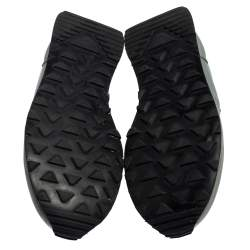 Prada Grey Nylon Low Top Sneakers Size 41
