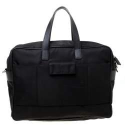 Prada Black Nylon Laptop Bag