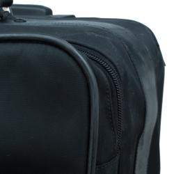 Prada Black Nylon Signature Rolling Suitcase