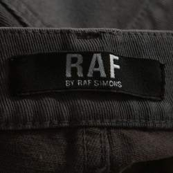 RAF by Raf Simons Shadow Grey Denim Distressed Slim Fit Jeans M
