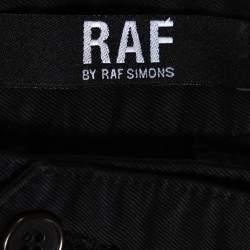 بنطلون راف باي راف سيمونز دينم أسود بطيات أرجل واسعة مقاس صغير جدًا (إكس سمول)