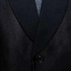 Ralph Lauren Black Jacquard Silk Shawl Lapel Tuxedo Jacket 4XL