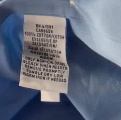 Ralph Lauren French Blue Cotton Logo Embroidered Button Down Shirt 2XB