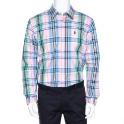 Ralph Lauren Multicolor Madras Check Cotton Custom Fit Shirt XL