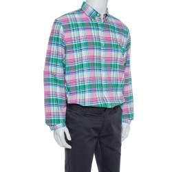 Ralph Lauren Multicolor Plaid Cotton Long Sleeve Button Front Shirt XL
