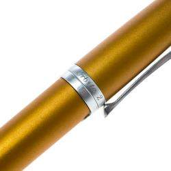 Roberge Orbite 2 Diamond Grey and Yellow Ochre Aluminium Rollerball Pen