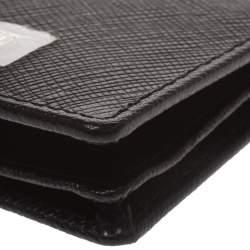 Roberto Cavalli Black Leather Card Holder