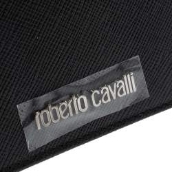 Roberto Cavalli Black Leather Card Holder