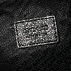 Roberto Cavalli Maroon/Black Zebra Print Fabric and Leather Mini Backpack