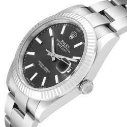 Rolex Rhodium 18K White Gold And Stainless Steel Datejust 126334 Men's Wristwatch 41 MM
