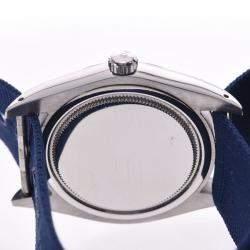 Rolex Silver Stainless Steel Oyster Date 6694 Men's Wristwatch 35 MM