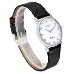 Rolex MOP 18K White Gold Cellini Classic 5115 Men's Wristwatch 32 MM