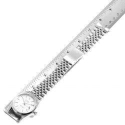 Rolex Silver Tapestry 18K White Gold And Stainless Steel Datejust 16234 Men's Wristwatch 36 MM