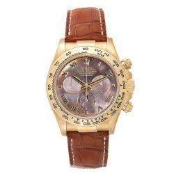 Rolex Black MOP 18K Yellow gold Cosmograph Daytona 116518 Men's Wristwatch 40 MM