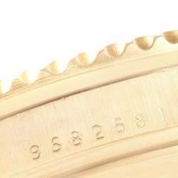 Rolex Champagne Diamond And Sapphire 18K Yellow Gold Submariner 16808 Men's Wristwatch 40 MM