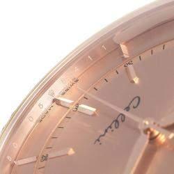 Rolex Pink Diamonds 18K Rose Gold Cellini Automatic 50705 Men's Wristwatch 39 MM