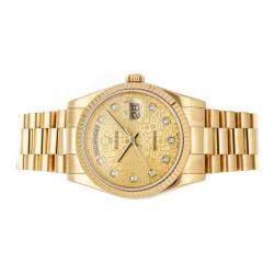 Rolex Champagne Diamonds 18k Yellow Gold Day-Date 118238 Men's Wristwatch 36 MM