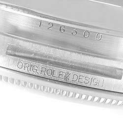 Rolex White Stainless Steel Datejust 126300 Men's Wristwatch 41 Mm